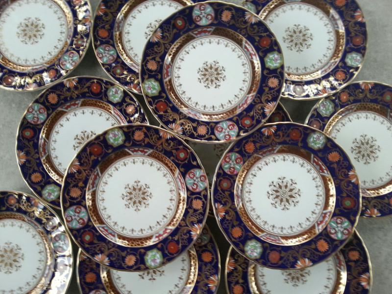 Ashworth\u0027s Ironstone Japan Patterned Set of Twelve Dinner Plates & Ashworth\u0027s Ironstone Japan Patterned Set of Twelve Dinner Plates ...